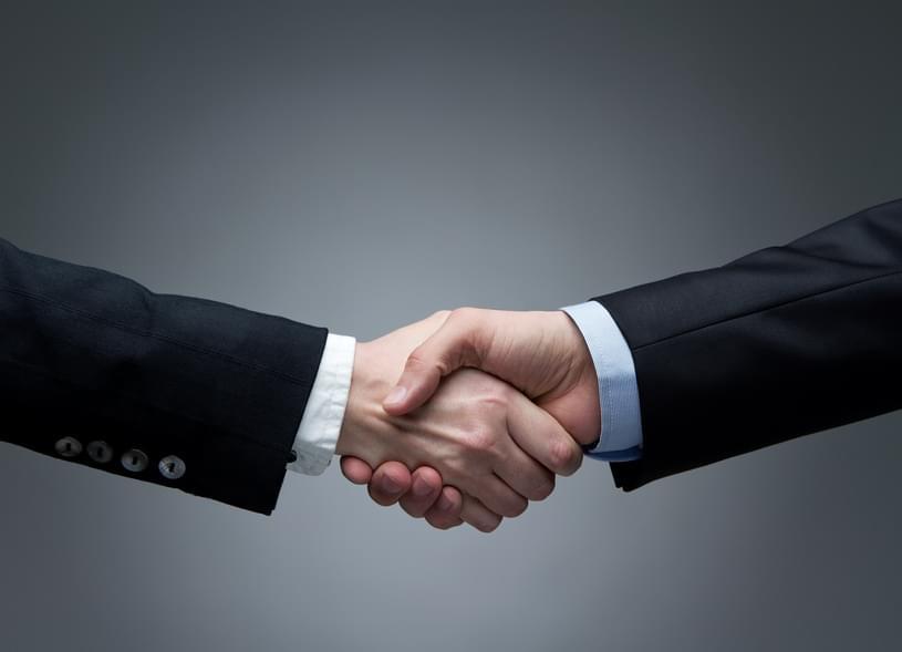"""Handshake zwischen Geschäftspartnern: Umgangsformen """"at its best"""""""