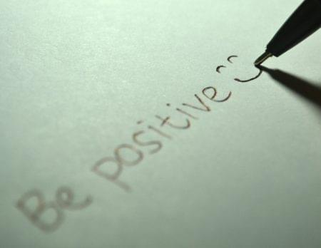 Eine positive Einstellung bringt Sie vorwärts.